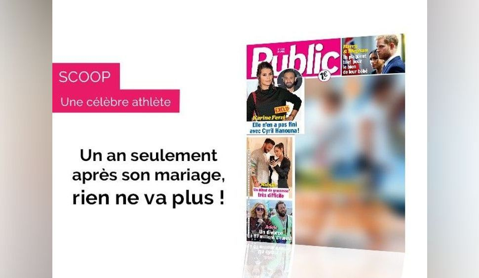 Magazine Public - Il y a de l'eau dans le gaz entre cette championne olympique et son chanteur !