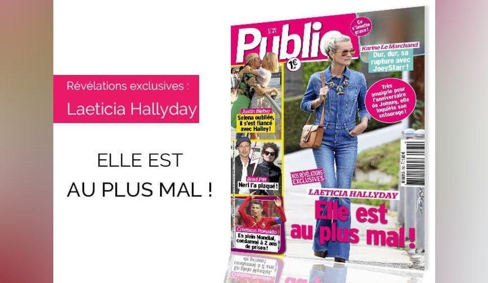 Magazine Public : Laeticia Hallyday au plus mal !