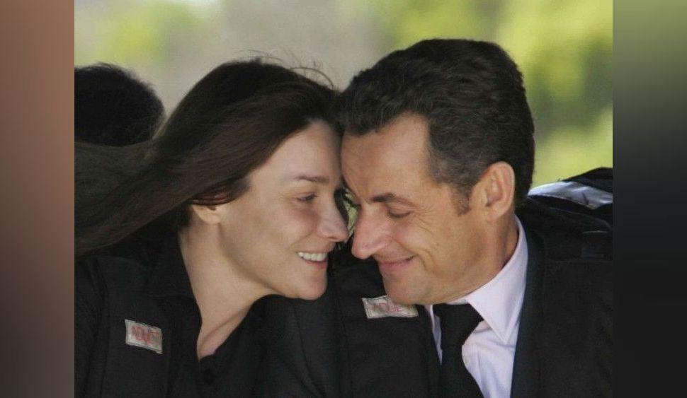 Très gênant ! Carla Bruni et Nicolas Sarkozy se roulent une pelle monumentale en public !