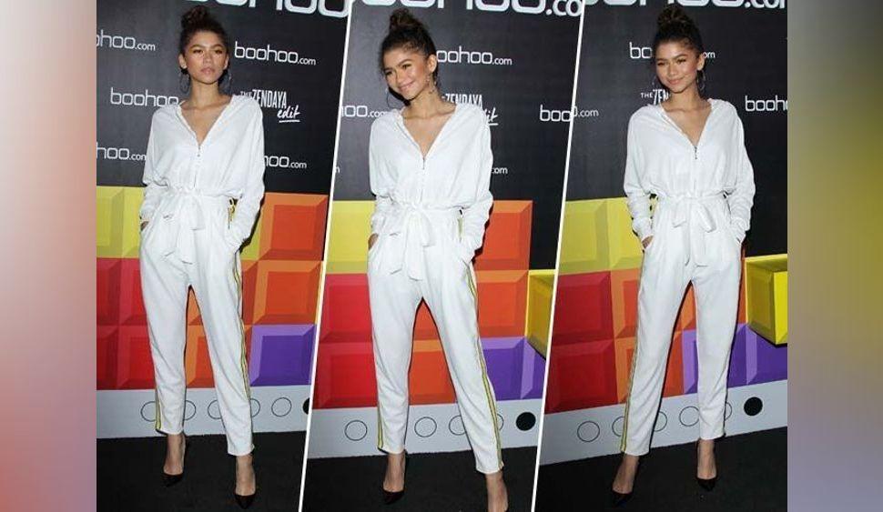 Zendaya : total look blanc pour sa collaboration avec Boohoo !