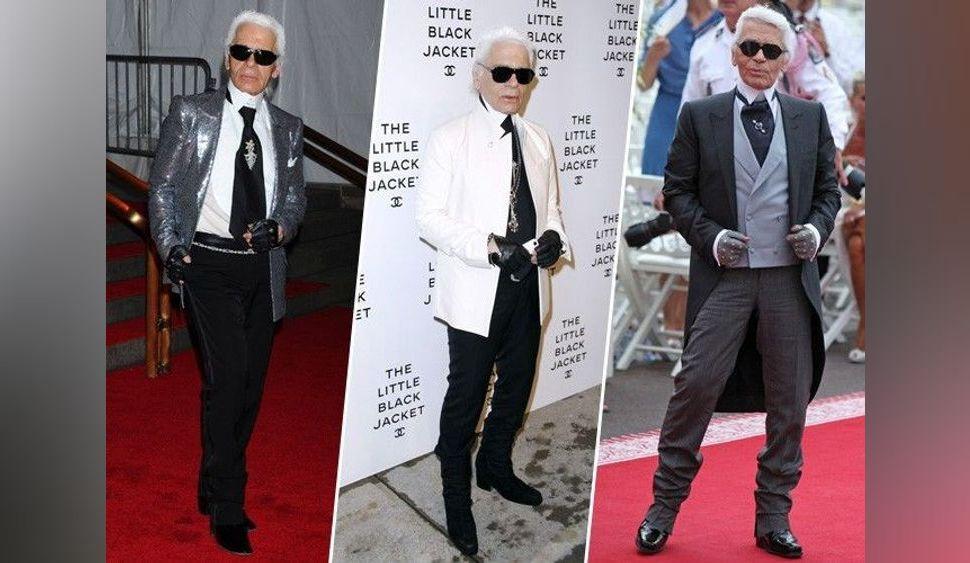 Karl Lagerfeld est mort : retour en images sur ses looks bicolores