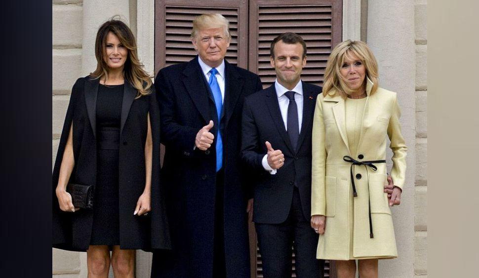 """Photos : Emmanuel et Brigitte Macron : Leur """"relation privilégiée"""" avec Donald Trump !"""