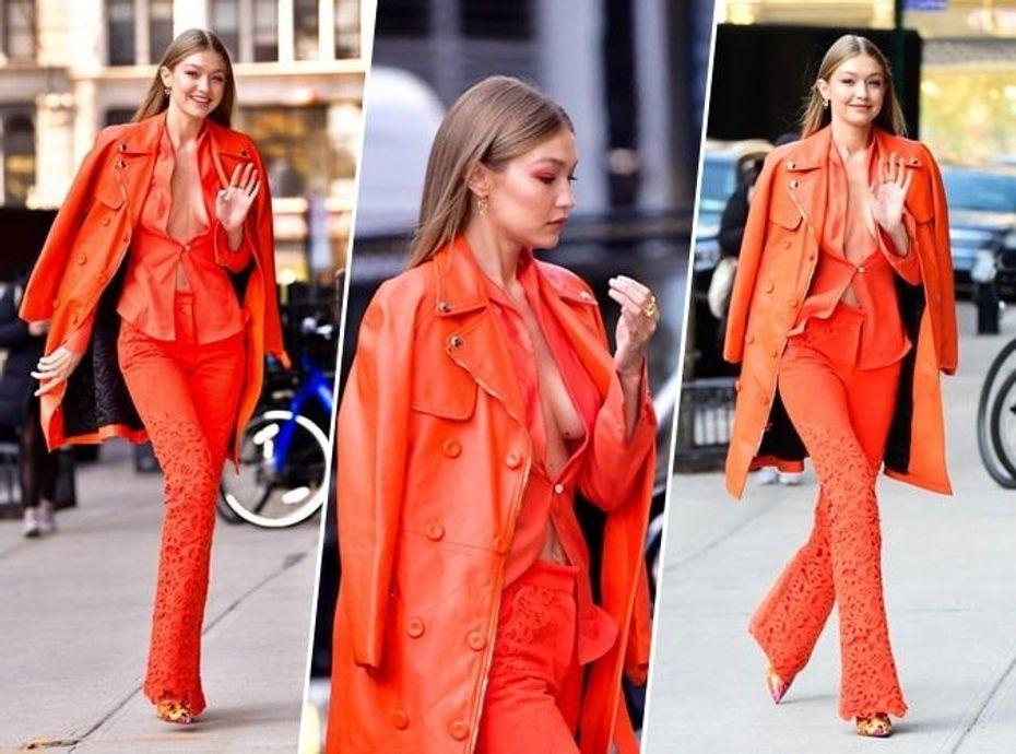 Gigi Hadid : qui valide son total look orange ?