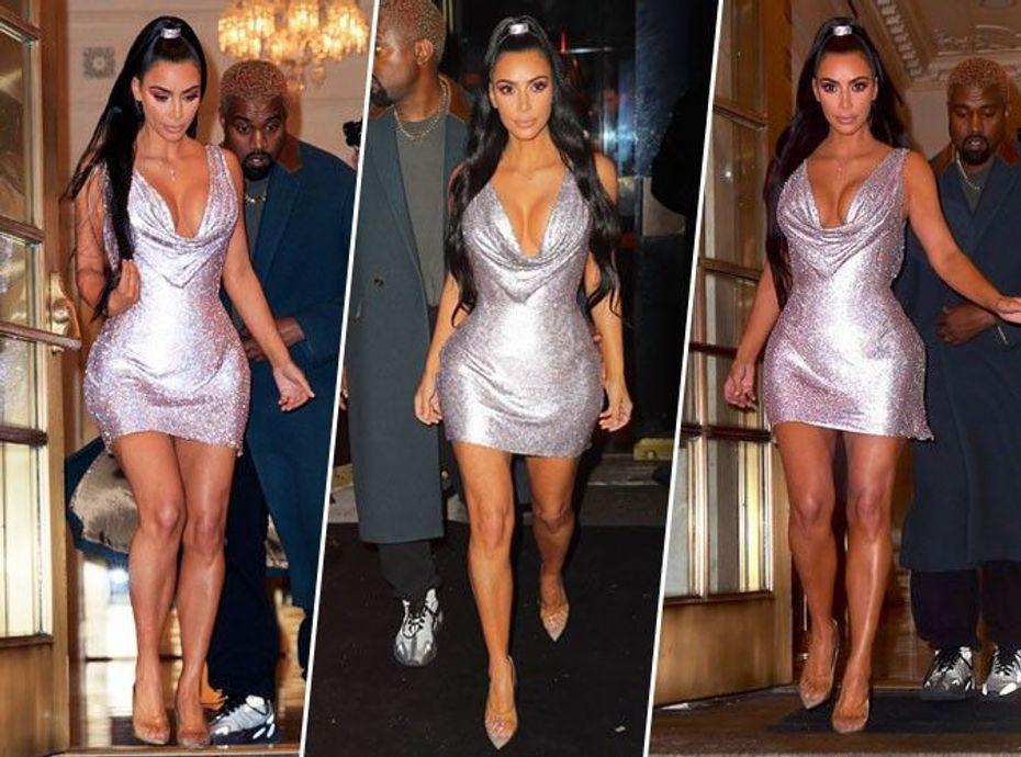 Kim Kardashian : qui craque pour sa petite robe scintillante ?