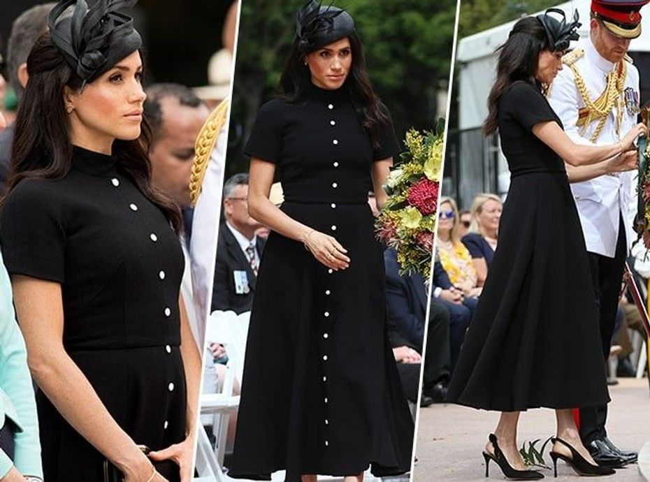 Meghan Markle portait la même robe que l'ex-petite amie du prince Harry... Copiez son look en moins cher !